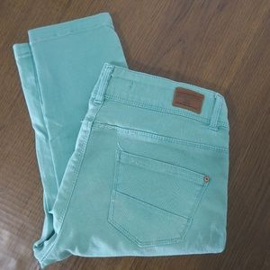 Zara Core Denim Green Pants